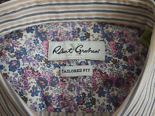 ROBERT GRAHAM LS SHIRT X- COLLECTION MILANO RC LAVENDER 16.5 - TAILORED FIT BNWT