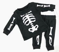 Carters Halloween Skeleton Pajama Set Cotton Black With White Bones Newborn Boy