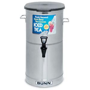 Iced Tea Dispenser 5 Gallon Capacity - Solid Lid