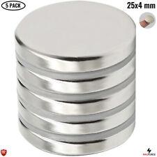 5pcs Super Strong 25x4mm Rare Earth Neodymium N35 Round Disc Magnets Diy Fridge