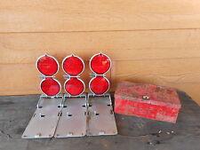 Red Road Flare vintage road safety reflector INDUSTRIAL LOFT DECOR FLEA MARKET!