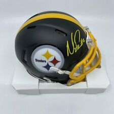 Mason Rudolph Signed Pittsburgh Steelers Matte Black Speed Mini-Helmet