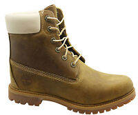 Timberland 6 Inch Premium Womens Boots Lace Up Leather Light Brown 8229A T4A