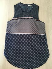 abercrombie and fitch Navy Blue Faulard Sleeveles Light Vest Top Size XS 6-8
