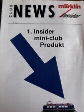 Club News MARKLIN n°2 1994 - Mini Club Product - Tr.20