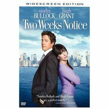 Two Weeks Notice (DVD, 2003, Widescreen)