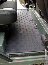 Land Rover Defender Mats - Rear Passenger Floor - Pairs Moulded Rubber  AUTO-003