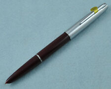 Hero 100 Burgundy Fountain Pen 14K Gold Fine Nib Plastic Barrel Without Box