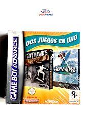 Tony Hawks Underground + Pro Surfer GBA Gameboy Advance Nuevo Precintado SPA