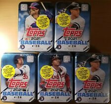 New listing 2021 Topps Series 1 Unopened Collectible Tins 75 Cards per box - Lot Of 5