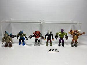 Vintage Mega Blocks Teenage Mutant Ninja Turtles TMNT Figures -Check Description