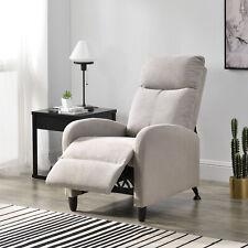 Relaxsessel Fernsehsessel Polster Sessel Liegefunktion Liegestuhl Textil Braun