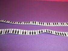 galon tissu notes de piano, accordeon, miniature, 50cm x 1 cm   CL1