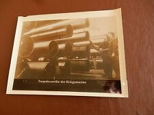 GENUINE WW2 GERMAN PRESS SYNDICATE PHOTOGRAPHS  MARTIME SUBJECT  u boat torpedo