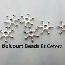 100 Silver Color Star Beads 15x2mm  Lead Nickel and Cadmium Free Inside Hole 2mm