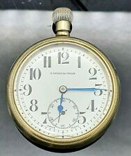 hunter pocket watch - collectable Early vintage Swiss made 'Satisfaction' half