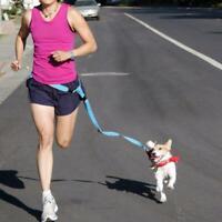 1*Dog Leash Lead Waist Belt Adjustable Hands Free For Jogging F6N4 Walking B8K0