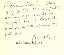 Paul GERALDY avec ENVOI AUTOGRAPHE DEBARCADERES sur ARCHES