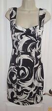Sequin Hearts Dress Black White Print Sheath Tank Fitted Junior Sz 3 EUC - SB
