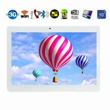 10.1 Android 8.1 Tablet PC 64GB Core 10 Inch HD WIFI 2 SIM 4G Phablet NEW Silver