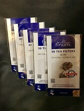 Finum 30 Tea Filters Slim New! Fillable! Lot Of 5 Packages 150 Filters Total