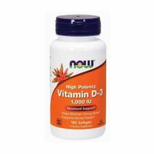 Vitamin D-3, 1000iu x 180Sgels, NOW Foods, 24hr Dispatch Bone Health