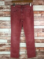 Lucky Brand Women's Cords Corduroys Light Red Straight Pants Jeans Size 6/28