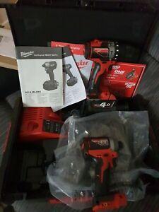 ⚡️Milwaukee M18BLID2 18V Brushless Impact &  M18BLPD2 Drill Driver Combo Set