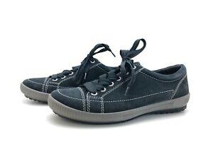 Legero Damen Sneaker Freizeitschuhe Schnürschuhe Comfortschuh Blau Gr. 38 (UK5)