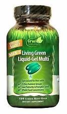 Irwin Naturals Living Green Multi Liquid-gel for Men 120 Count