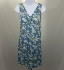 GAP Blue Floral Sleeveless Tie Front Dress Size XS