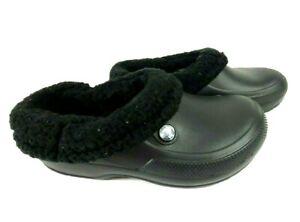 Crocs Unisex Classic Blitzen III Lined Clog Black Size Men 5 woman 7 US
