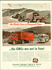 1943 Ww2 Ad Gmc Truck And Coach , Battle Lines & Transport Lines 051919