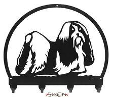 Swen Products Shih Tzu Dog Black Metal Key Chain Holder Hanger
