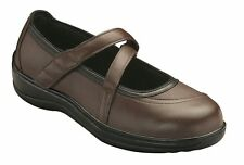 Ortho Feet Brown Mary Jane Leather Shoes Size 9 1/2 M Strap Diabetic Therapeutic