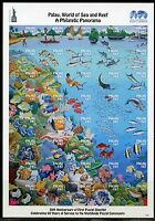 PALAU  NEVER BEFORE OFFERED RARE WORLD OF SEA & REEF  SHEET  IMPERFORATE MINT NH
