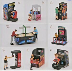 Miniature Figure Arcade Games 1/87 or 1/64 Diecast Hotwheel no Preiser