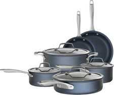 Bialetti Sapphire 10 piece Nonstick Hard Anodized Cookware Set-Induction Blue