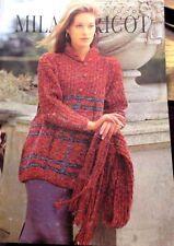 "Ladies Jumper & scarf Knitting Pattern Leaflet no. PT 3001 sizes 34-42"""