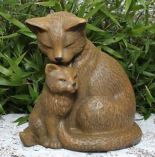 Steinfigur Katzenpaar Mieze Gartendeko Gartenfigur Tierfigur Geschenkidee