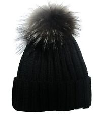 Fashionable Wool Winter Hat With Trendy Fox Pom - Yutro Fashion BLACK CIT102-14E