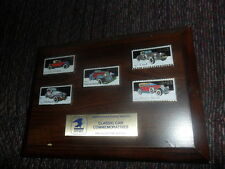 USPS Classic Car Commemoratives 5 Pin Wooden Plaque Set RARE ONLY ONE ON EBAY!