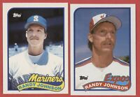 1989 Topps #647 Randy Johnson and Traded #57T RC Rookie