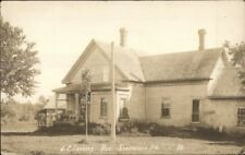 Penobscot County ME JC Tracey Residence in Stacyville Real Photo Postcard