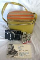 Bell & Howell Autoload 342 Focus-Matic Camera with Case Manual Flash Cubes
