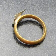 Genuine Bach Stradivarius Trumpet 1st Slide Finger Ring, Raw Brass NEW! H2