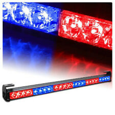 "24 LED 27"" RED BLUE Emergency Traffic Advisor Flash Strobe Light Bar Warning"
