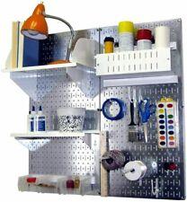Metal Wall Pegboard Peg Board Panel Organizer Shelf Display Tools Garage 2 Pack