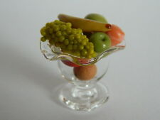 (F2) DOLLS HOUSE FOOD : GLASS BOWL WITH FRUIT