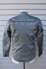 Harley Davidson V-ROD Womens S/W Jacket Coat Silver Stitched Logo on the back